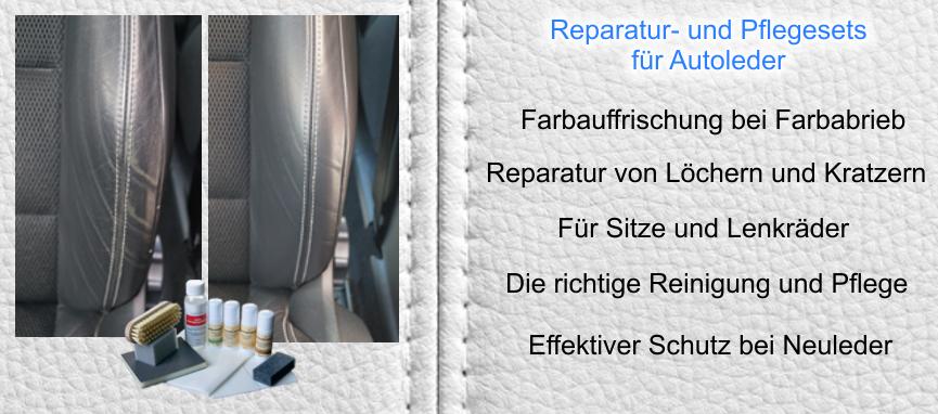 Farbsets für Autoleder